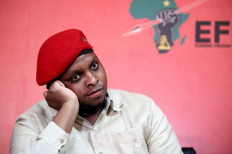 EFF deputy president Floyd Shivambu during a media briefing on October 16 2018 in Johannesburg, Picture: GALLO IMAGES/SOWETAN/THULANI MBELE