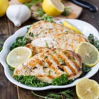 Healthy Grilled Greek Chicken.