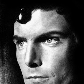 CK, The Icon by Franky Go - Drawing All Drawing ( dc, heroes, superman, comic, hollywood, actor, portrait, drawing, celebrity, christopher reeves, doomsday, legend, reeves, dc comic, pencil drawing, smallville, justice league, cancer, realism, superboy )