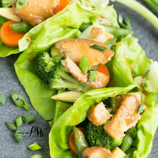 Asian Tilapia Lettuce Wraps.