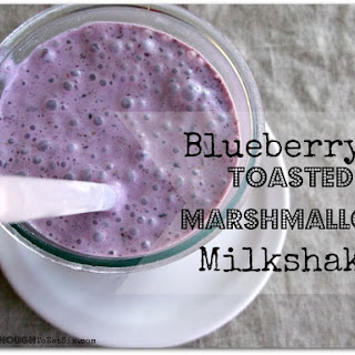 Blueberry & Toasted Marshmallow Milkshake