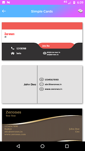 Pembuat kartu nama - kunjungan 3.7 screenshots 6