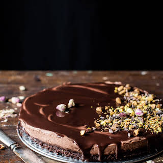 Chocolate Lovers Greek Yogurt Chocolate Mousse Cake..