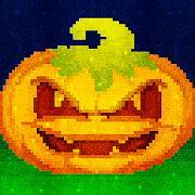 Halloween Glitter Pixel Art: Color by Number Book