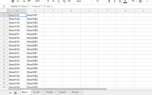 3D Reference - Google Sheets add-on