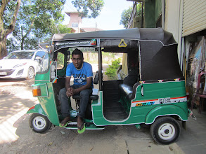 Photo: Amila our loyal tuk-tuk driver.
