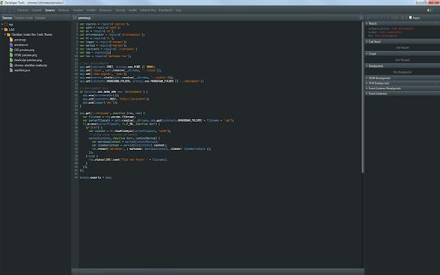 DevTools Theme: Obsidian Snake