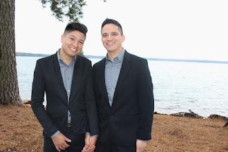 Photo: Same-sex lakeside elopement!  http://WeddingWoman.net