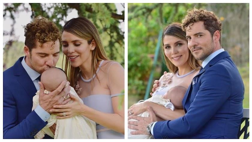 imágenes del bautizo del pequeño Matteo que David Bisbal y Rosanna Zanetti han compartido en Instagram. La voz