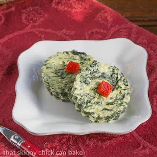 Mini Spinach Soufflés.
