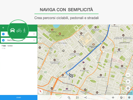 percorso maps offline
