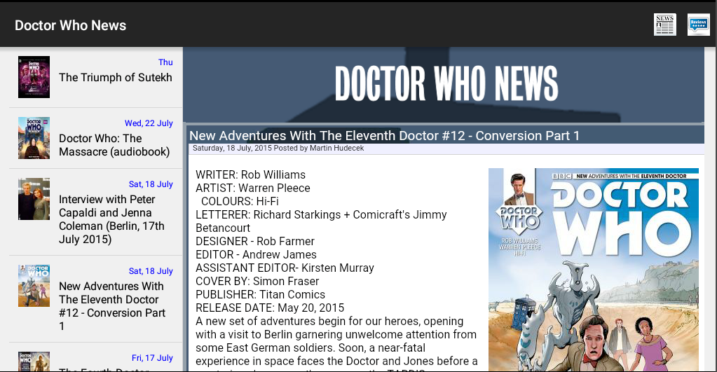 NITAS - Doctor Who News- screenshot