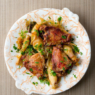 Pheasant with Roasted Garlic and Parsley Root