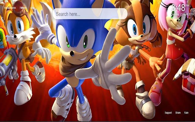 Sonic the Hedgehog HD Wallpaper New Tab