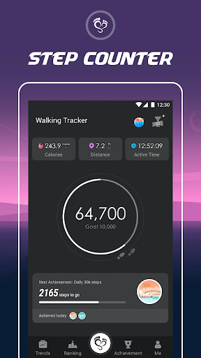 Walking Tracker – Free Step Counter & Pedometer Fitness app screenshot 1 for Android