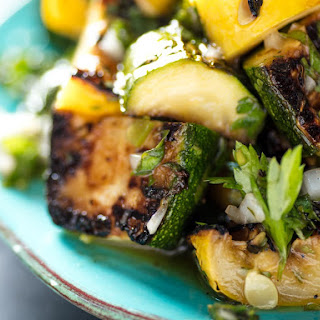 Grilled Summer Squash with Chimichurri Recipe