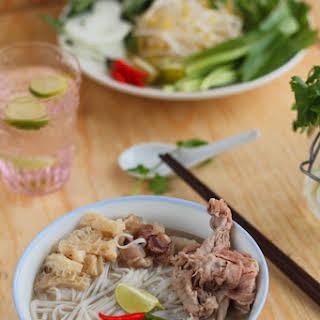 Vietnamese Beef Rice Noodle Soup.