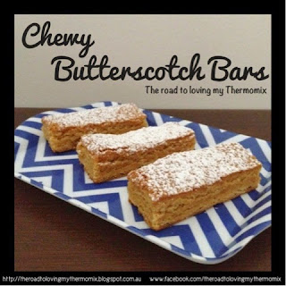 Chewy Butterscotch Bars.