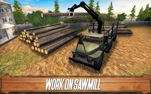 Sawmill Driver: Logging Truck & Forest Harvester  screenshots 1
