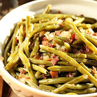Southern Slow Cooker Green Beans.