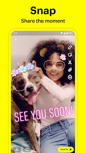 Snapchat Android App Screenshot