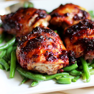 Roasted Chicken Thighs with Cherry-Jalapeno Barbeque Sauce