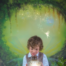 Enchanted Boy by Chris Cavallo - Digital Art People ( enchanted, woodland, fairies, fairy )