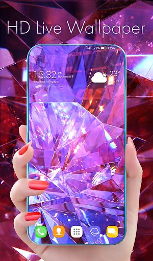 Diamond Wallpaper for Girls and Keyboard  screenshots 1