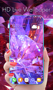Diamond Wallpaper for Girls and Keyboard 1