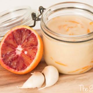 Vegan Mayonnaise with Blood Orange Zest
