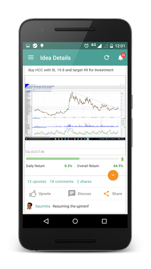 Talkoot: Investors network- screenshot