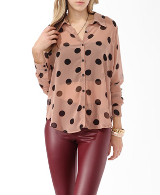 Photo: Jumbo Polka Dot Print Shirt $13.50 http://bit.ly/Nd35Em