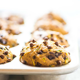 Healthy Zucchini Muffins with Chocolate Chips