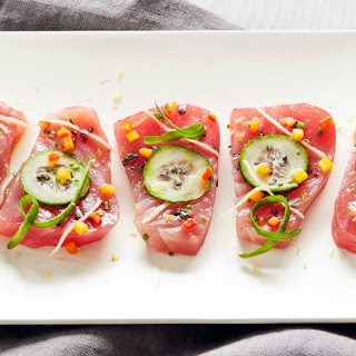 Mediterranean-Inspired Tuna Crudo Recipe