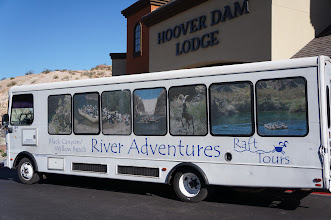 Photo: Our bus to the Black Canyon raft trip.