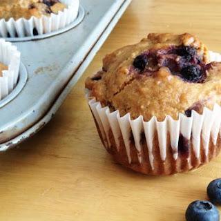 Vegan, Gluten-Free Blueberry-Coconut Muffins