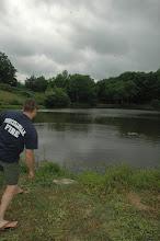 Photo: rock-skipping pond