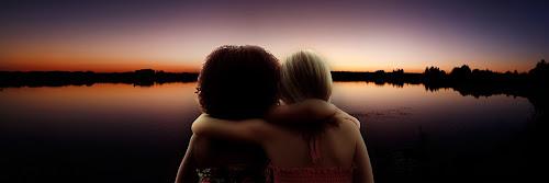 Bestfriends by Christie Lynn - People Fine Art ( sunset, bestfriends, children )