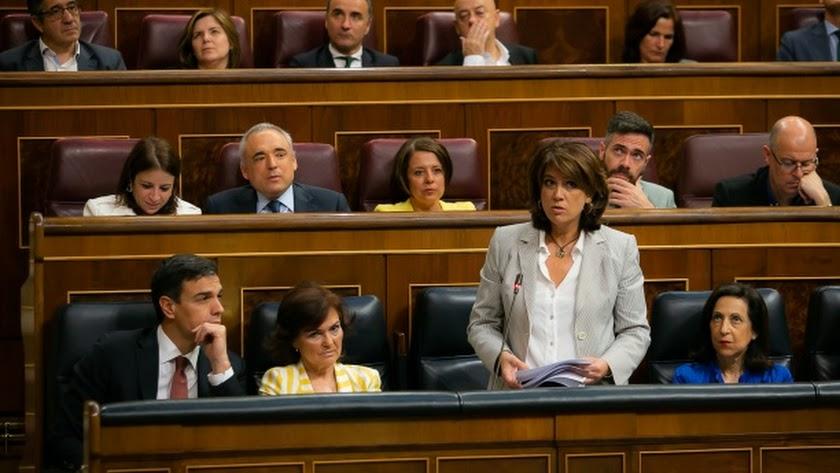 La ministra de Justicia, en una intervención en el Parlamento.