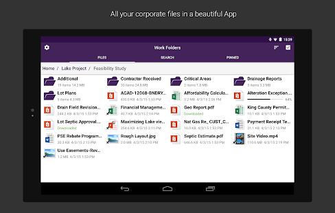 Work Folders Screenshot 10