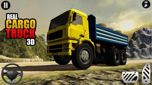 3D Euro Truck Driving Simulator - Real Cargo Game screenshots 1