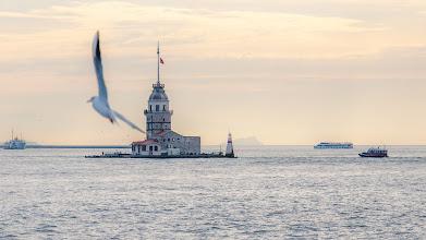 Photo: Auf der Fähre nach Asien (Kız kulesi, Leanderturm)