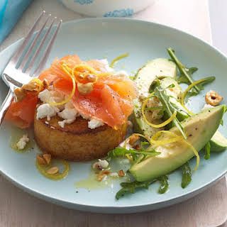 Smoked Salmon and Goat Cheese French Toast.