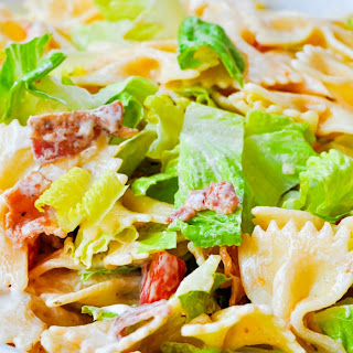 Zesty Ranch BLT Pasta Salad.
