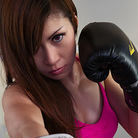 Powerful by Nanto 사파이어 - People Portraits of Women ( sexy, girl, female, woman, sports, boxing, fighter,  )