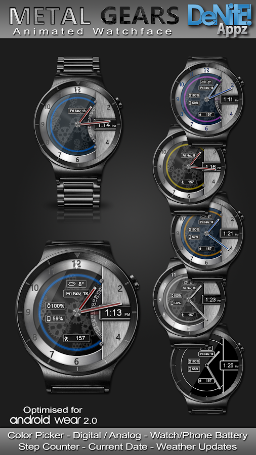 Metal Gears HD Watch Face- screenshot