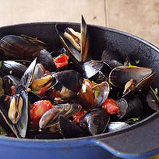 Spicy Grilled Mussels.