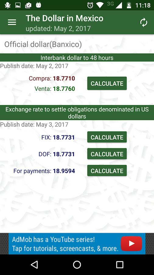 The dollar in mexico- screenshot