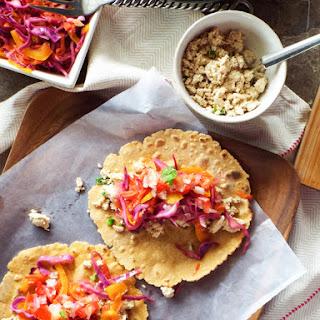 Tofu and Vegetable Tacos   Vegan.