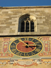 Photo: Martinskirche Neckartailfingen: Die erste Turmuhr von 1603 wurde mit diesem Zifferblatt geschmückt.